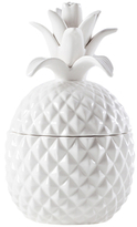 Torre & Tagus Short Pineapple Ceramic Canister