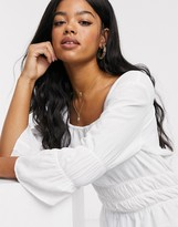 Pieces Jaly square neck puff sleeve top
