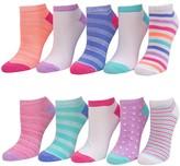 Girls 7-16 SO 10-pack No-Show Striped Socks