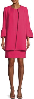 Albert Nipon Two-Piece Trumpet-Sleeve Coat & Mini Dress