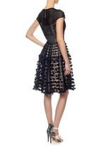 Temperley London Black Textured Trellis Dress