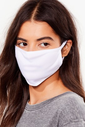 Nasty Gal Womens Face to Face 5-Pc Fashion Face Mask Set - White - ONE SIZE, White