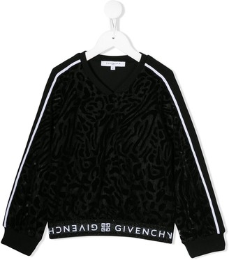 Givenchy Kids contrast stripe jumper