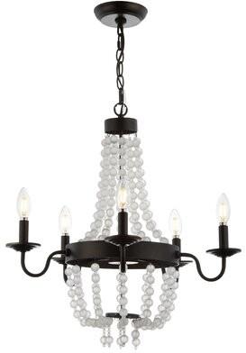 Berenice Gracie Oaks 5 - Light Candle Style Empire Chandelier Gracie Oaks