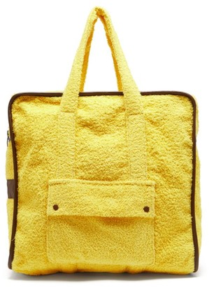Gabriel For Sach - Towel Leather-trimmed Cotton-terry Tote Bag - Yellow