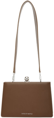 Ratio et Motus Brown Leather Mini Twin Bag