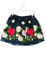 Miss Blumarine floral embroidered tutu