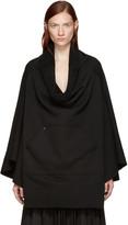 Bless Black Fleece Poncho Sweatshirt