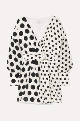 Mother of Pearl + Net Sustain And Bbc Earth Julia Polka-dot Organic Silk Wrap Dress - White