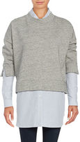 French Connection Cotton-Blend Heather Pullover