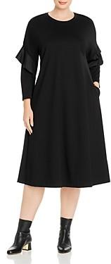 Marina Rinaldi Odessa Ruffled Jersey Midi Dress