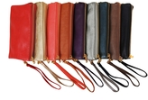 Large Wristlet with Included Cross Body Strap - Vegan Leather