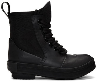 Proenza Schouler Black Smooth Rubber Boot
