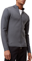 Jaeger Merino-blend Double-faced Zip Jumper, Flint Blue
