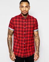 Asos Check Shirt In Short Sleeve