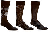 Roundtree & Yorke Argyle Basic Assorted Crew Socks 3-Pack