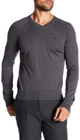 Original Penguin V-Neck Solid Pull Over Sweater