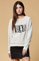 MinkPink Hey There Embroidered Crew Neck Sweatshirt