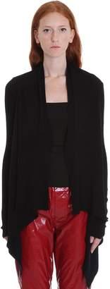 Rick Owens Medium Wrap Cardigan In Black Wool