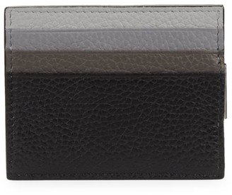 Saks Fifth Avenue COLLECTION Tricolor Leather Money Clip Card Case