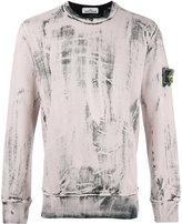 Stone Island paint layer sweatshirt - men - Cotton - XL