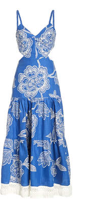 Alexis Narella Cutout Linen Dress