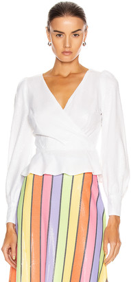 Olivia Rubin Catie Top in White | FWRD