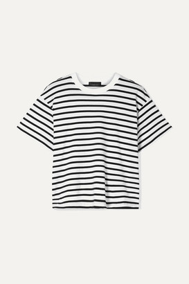 ATM Anthony Thomas Melillo Boy Striped Cotton-jersey T-shirt - Black