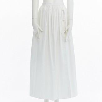 Tibi White Cotton Skirt for Women