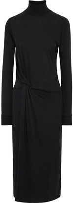 Rag & Bone Shaw Knotted Jersey Turtleneck Midi Dress