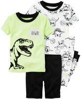 Carter's Boys 4-8 Dinosaur 4-Piece Pajama Set