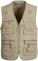 Alipolo Mens Casual Work Utility Hunting Travels Sports Vest With Multiple Pockets Army