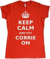Stooble Original Print Stooble Woens's Keep Cal, put Corrie On T-Shirt