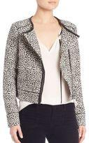 Joie Pattyn Leopard Jacquard Jacket