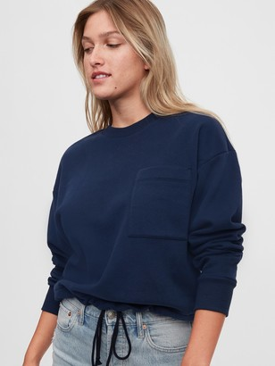Gap Workforce Collection Drawstring Crewneck Sweatshirt