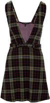 Derek Heart Women's Rompers BLACK - Black Plaid Plunging V-Neck Dress - Juniors