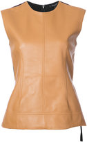 Derek Lam Sleeveless Shell With Crepe Back
