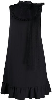RED Valentino Point D'esprit Panel Sleeveless Dress