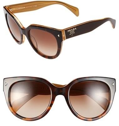 Prada 54mm Cat Eye Sunglasses