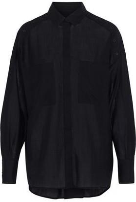 IRO Bocka Button-detailed Wool-gauze Shirt