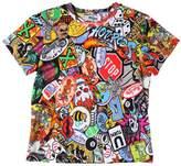 Moschino Tattoo Printed Cotton Jersey T-Shirt