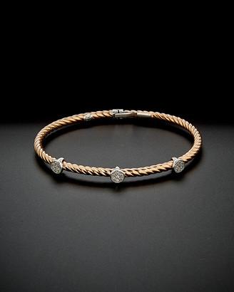 Italian Gold 14K Rose Gold 0.25 Ct. Tw. Diamond Circle Bracelet