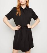 New Look Twill Drawstring Waist Shirt Dress