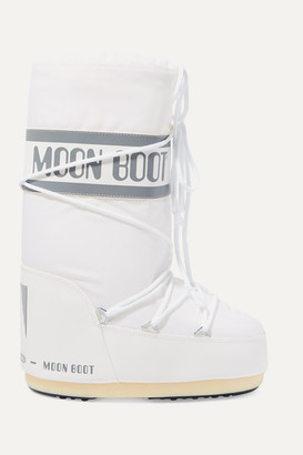 Moon Boot Shell And Faux Leather Snow Boots - White