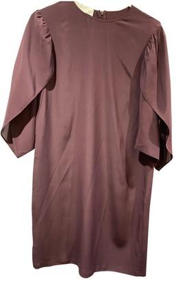 Stella McCartney Stella Mc Cartney Burgundy Silk Dresses