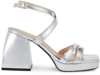 Nodaleto Bulla Siler 85 silver leather sandals