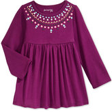 First Impressions Baby Girls' Long-Sleeve Necklace-Graphic Babydoll Tunic, Only at Macy's