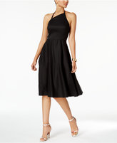 Betsey Johnson Asymmetrical Halter Fit & Flare Dress