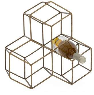 Torre & Tagus Brass Hexagon Wine-Rack