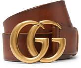 Gucci - 4cm Tan Burnished-Leather Belt